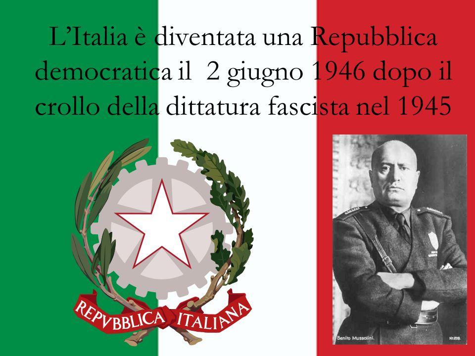 Gli organi fondamentali della Repubblica italiana sono : Il Parlamento Il Presidente della Repubblica Il Governo La Magistratura La Corte Constituzionale