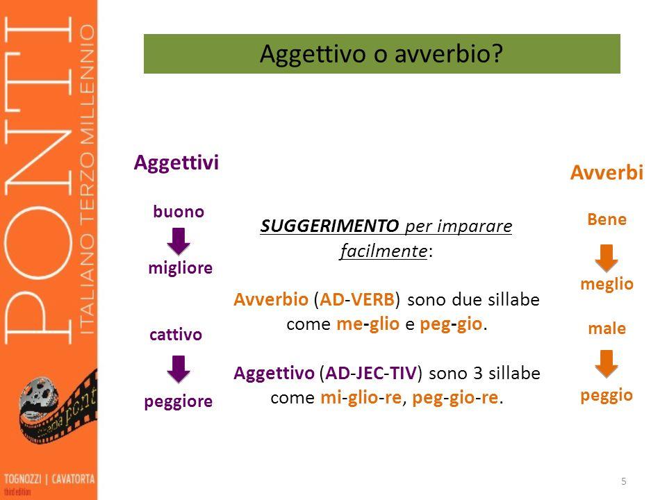 6 Alcuni aggettivi formano il comparativo e superlativo in modo irregolare.