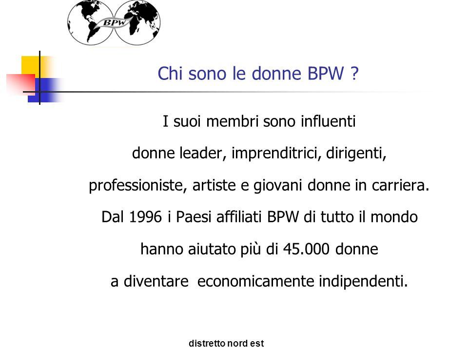Chi sono le donne BPW ? I suoi membri sono influenti donne leader, imprenditrici, dirigenti, professioniste, artiste e giovani donne in carriera. Dal