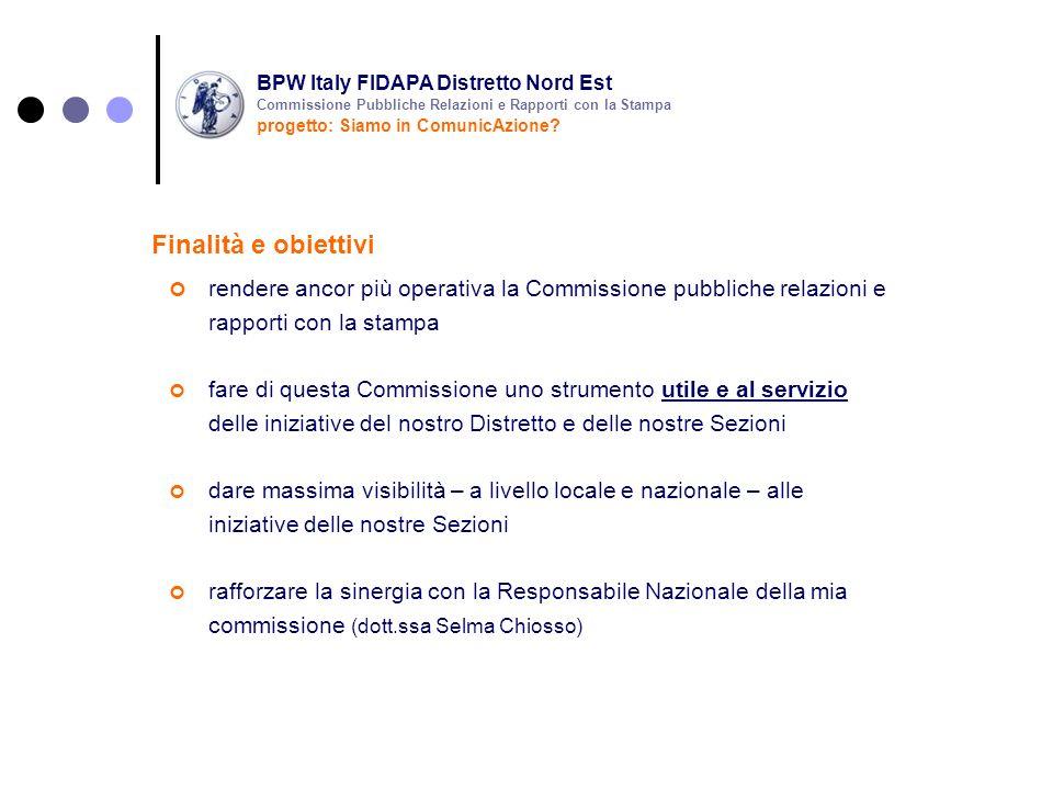 rendere ancor più operativa la Commissione pubbliche relazioni e rapporti con la stampa fare di questa Commissione uno strumento utile e al servizio d