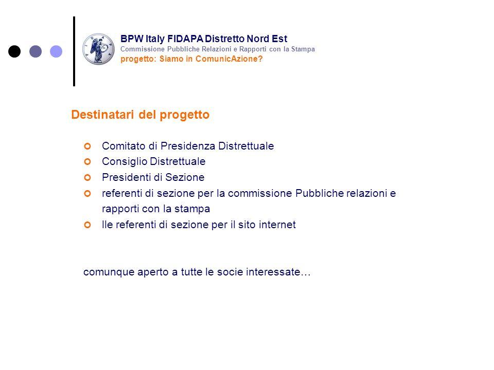 Comitato di Presidenza Distrettuale Consiglio Distrettuale Presidenti di Sezione referenti di sezione per la commissione Pubbliche relazioni e rapport