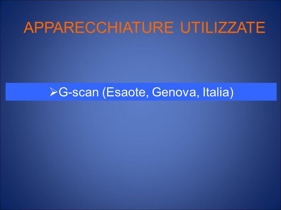 APPARECCHIATURE UTILIZZATE G-scan (Esaote, Genova, Italia)