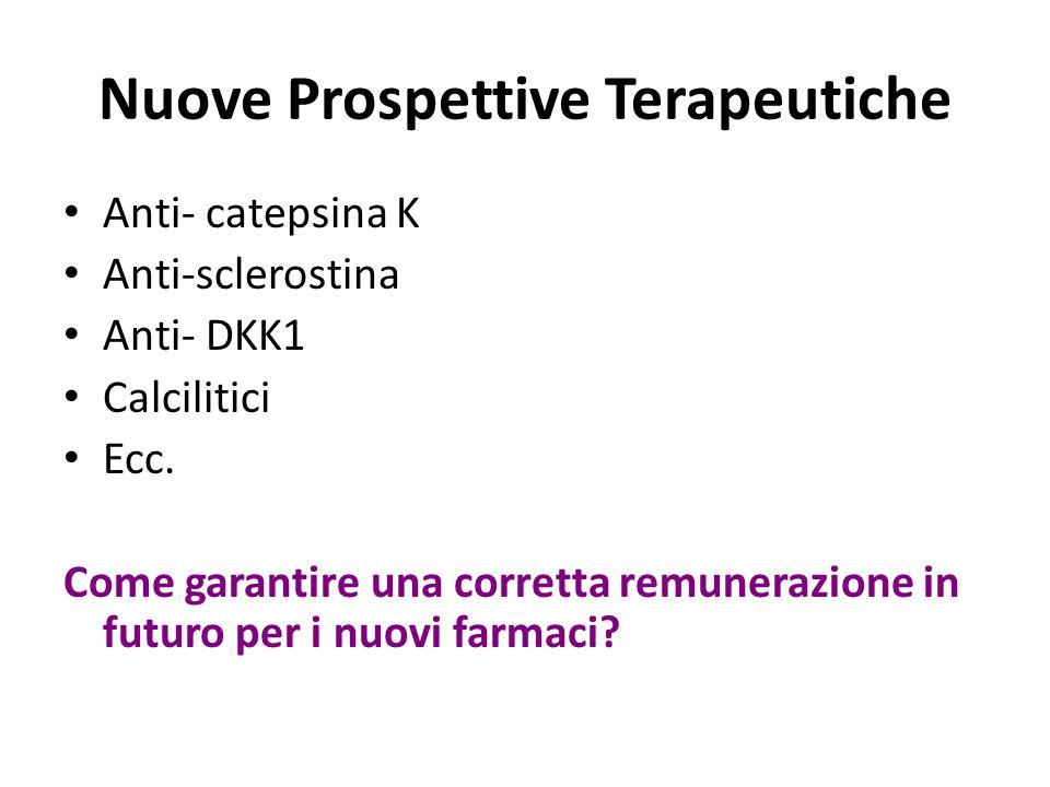 Nuove Prospettive Terapeutiche Anti- catepsina K Anti-sclerostina Anti- DKK1 Calcilitici Ecc. Come garantire una corretta remunerazione in futuro per