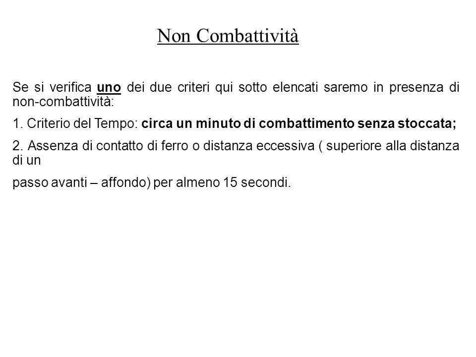 Non Combattività Se si verifica uno dei due criteri qui sotto elencati saremo in presenza di non-combattività: 1.