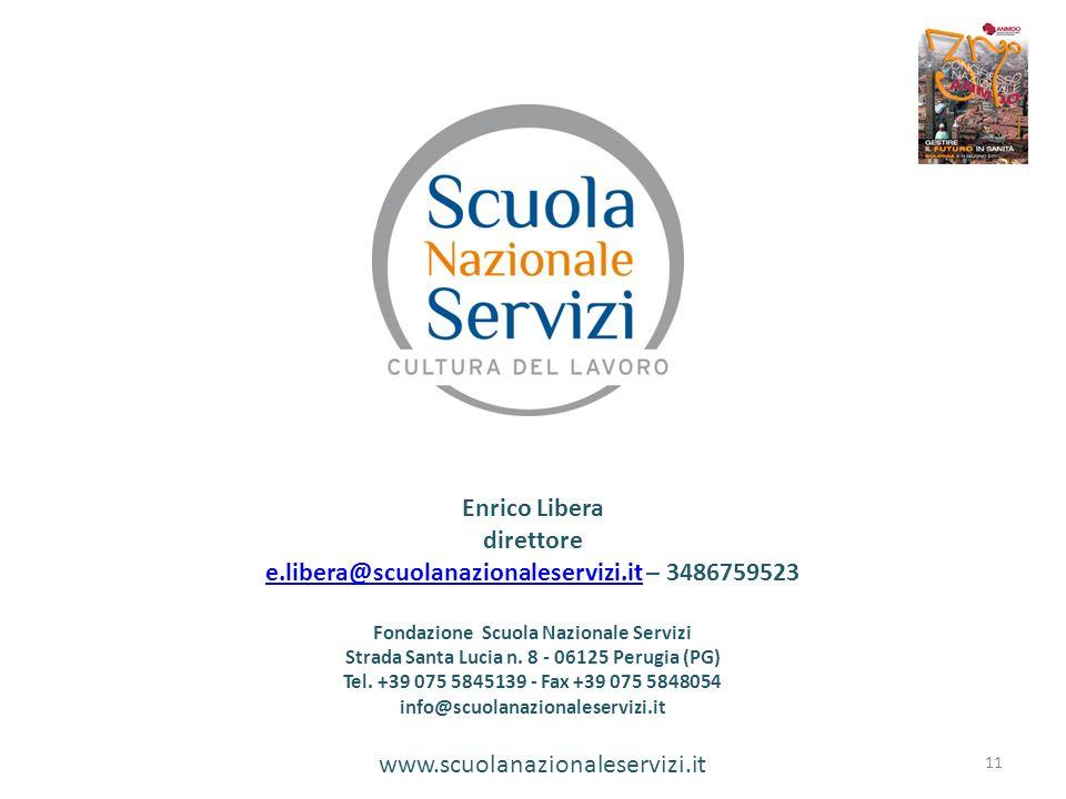 www.scuolanazionaleservizi.it Enrico Libera direttore e.libera@scuolanazionaleservizi.ite.libera@scuolanazionaleservizi.it – 3486759523 Fondazione Scu