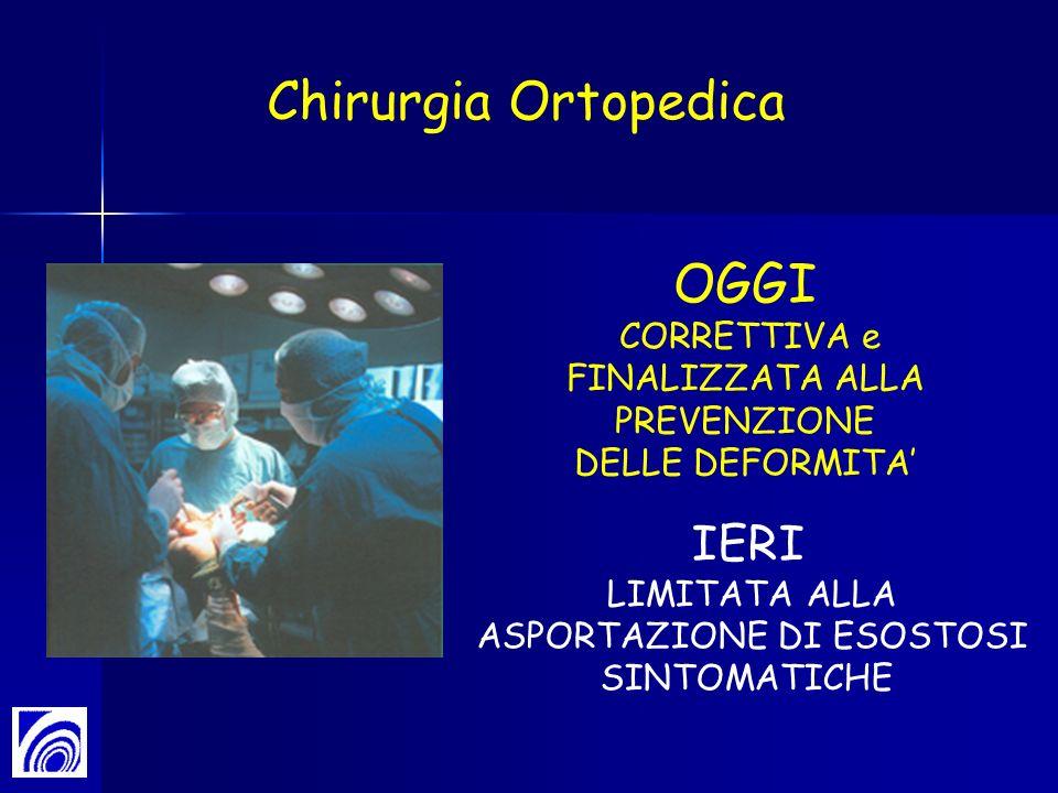 IERI LIMITATA ALLA ASPORTAZIONE DI ESOSTOSI SINTOMATICHE OGGI CORRETTIVA e FINALIZZATA ALLA PREVENZIONE DELLE DEFORMITA Chirurgia Ortopedica