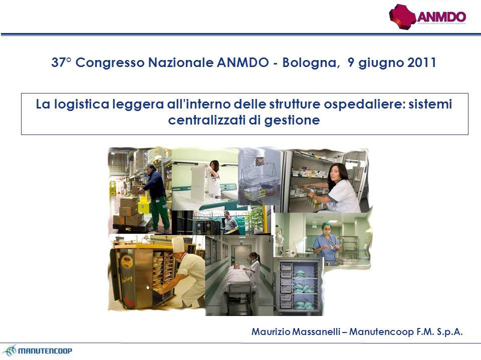 La logistica leggera all interno delle strutture ospedaliere: sistemi centralizzati di gestione Maurizio Massanelli – Manutencoop F.M.