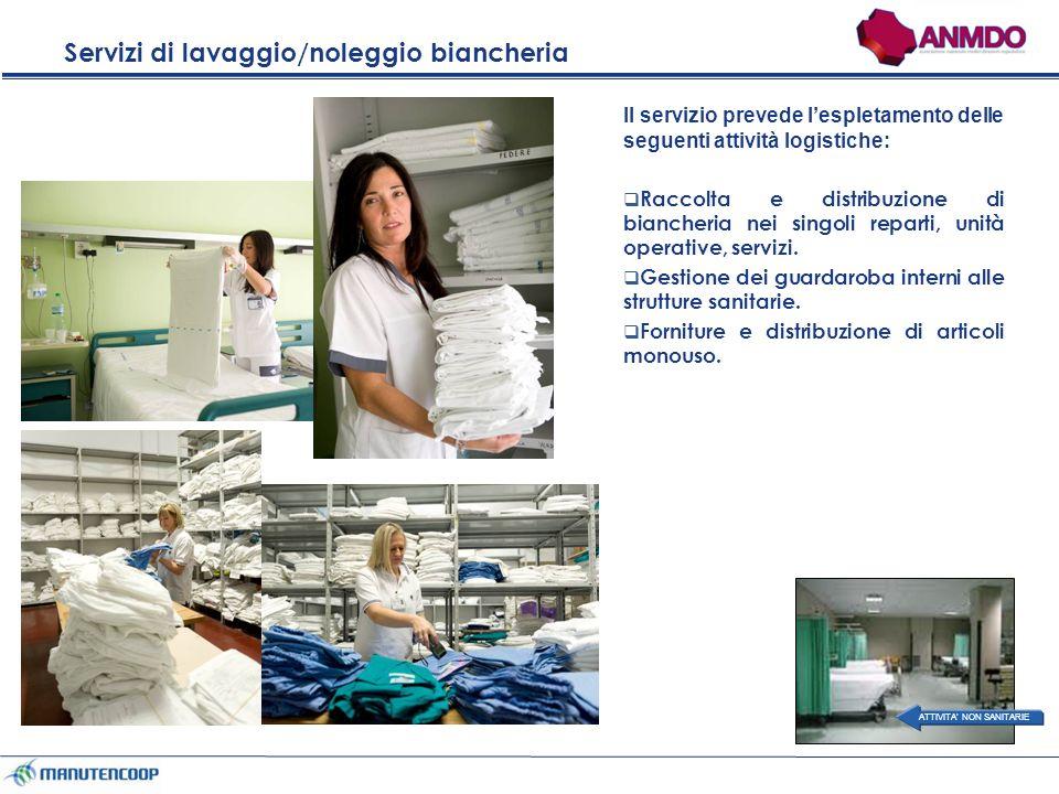 Ottimizzazione dei flussi logistici in ambito sanitario pulitosporco Vitto Materiale Biologico Rifiuti Pulizie Biancheria