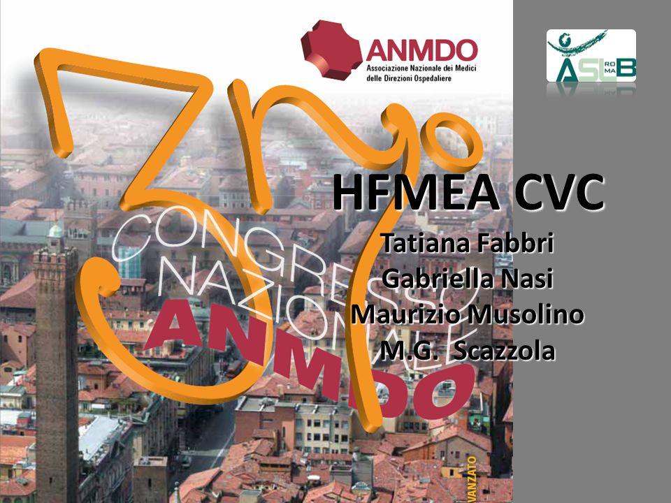 HFMEA CVC Tatiana Fabbri Gabriella Nasi Maurizio Musolino M.G. Scazzola