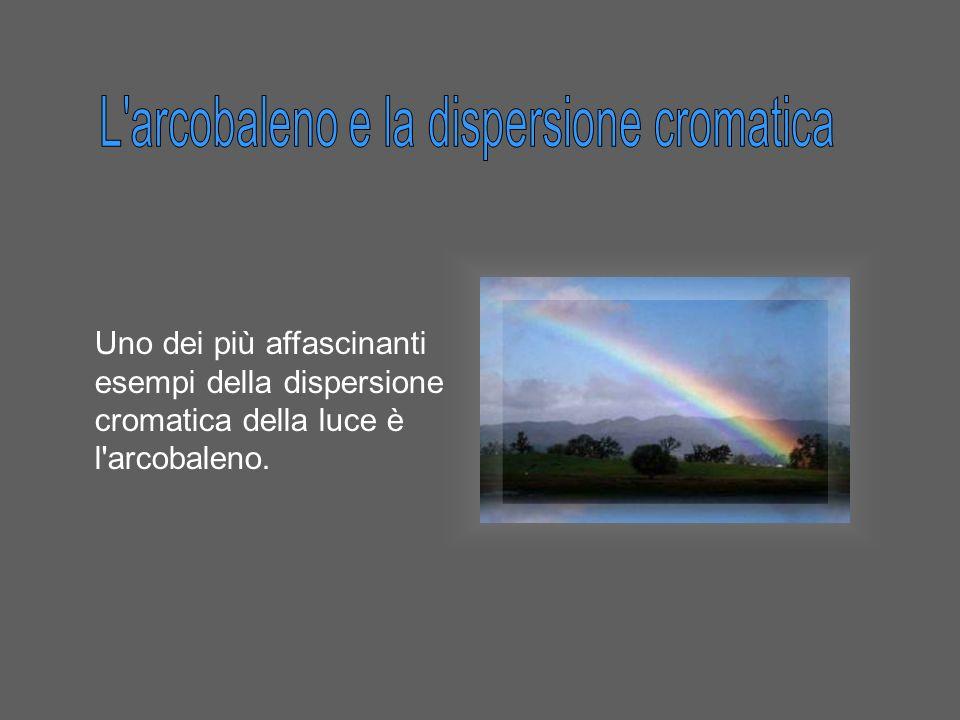 Uno dei più affascinanti esempi della dispersione cromatica della luce è l'arcobaleno.