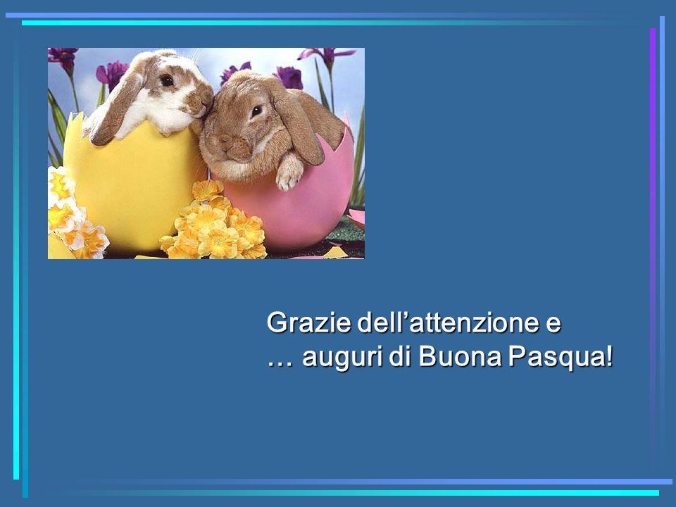 Grazie dellattenzione e … auguri di Buona Pasqua!