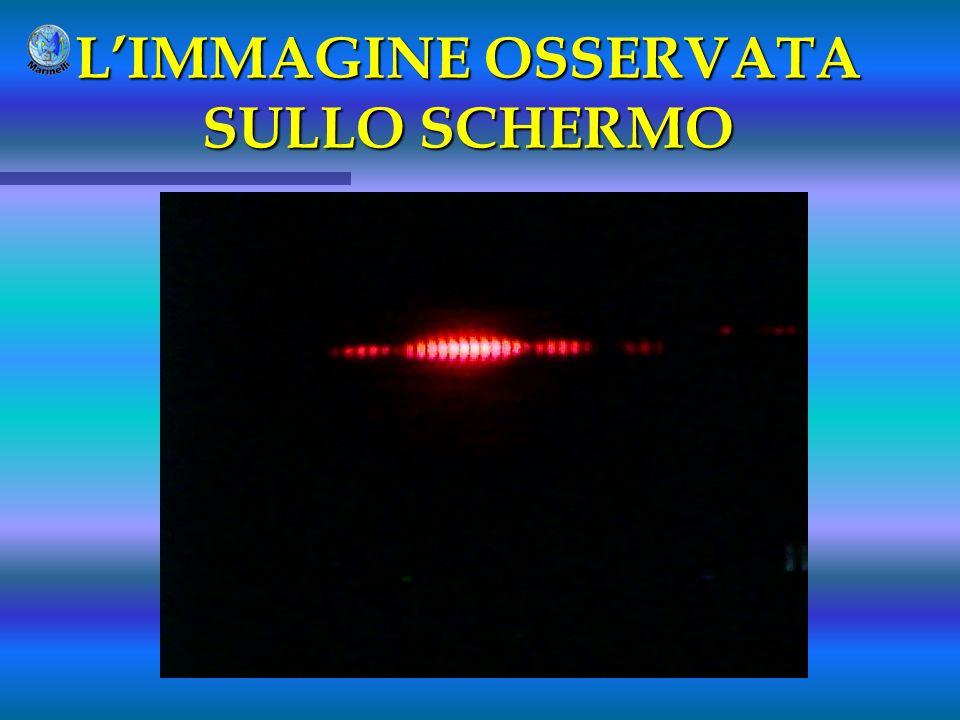 LIMMAGINE OSSERVATA SULLO SCHERMO