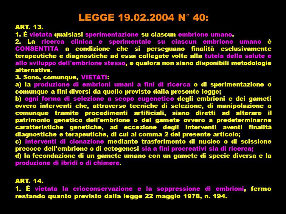 LEGGE 21.10.2005 N° 219: ART.3. 1.