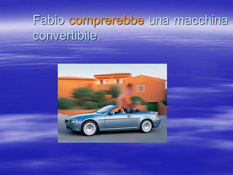 Fabio comprerebbe una macchina convertibile.