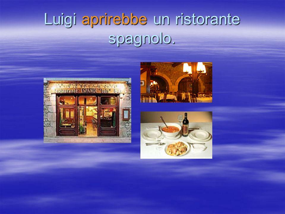 Luigi aprirebbe un ristorante spagnolo.