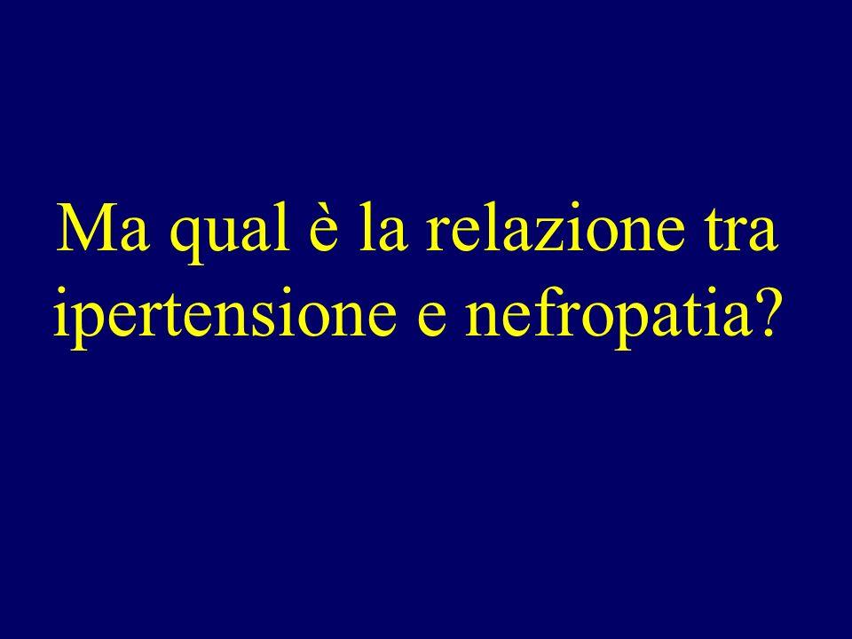 Ma qual è la relazione tra ipertensione e nefropatia?