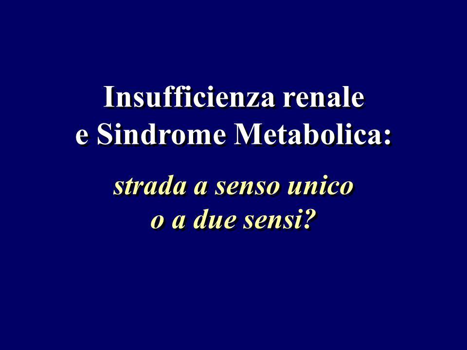 Insufficienza renale e Sindrome Metabolica: strada a senso unico o a due sensi?