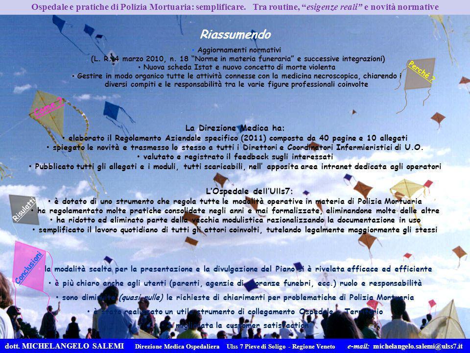 Aggiornamenti normativi (L. R. 4 marzo 2010, n. 18 Norme in materia funeraria e successive integrazioni) Nuova scheda Istat e nuovo concetto di morte