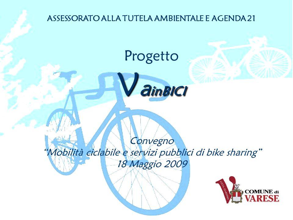 ASSESSORATO ALLA TUTELA AMBIENTALE E AGENDA 21 Progetto V a inBICI Convegno Mobilità ciclabile e servizi pubblici di bike sharing 18 Maggio 2009