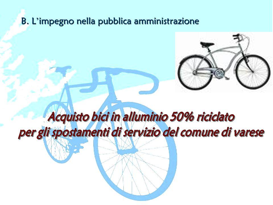B. L impegno nella pubblica amministrazione