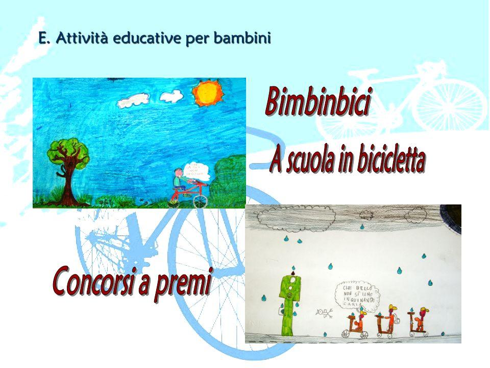 E. Attività educative per bambini