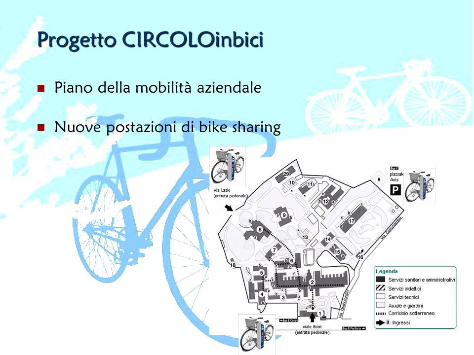 Piano della mobilità aziendale Nuove postazioni di bike sharing
