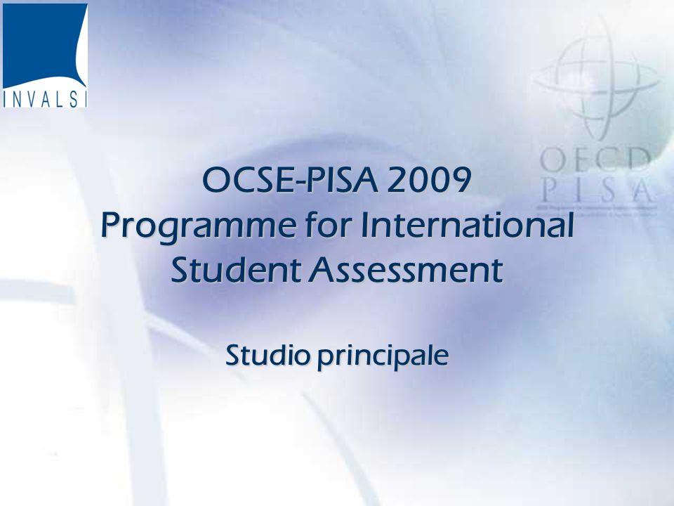 2 Programma del corso di formazione Il progetto OCSE PISA 2009 Le procedure di somministrazione.