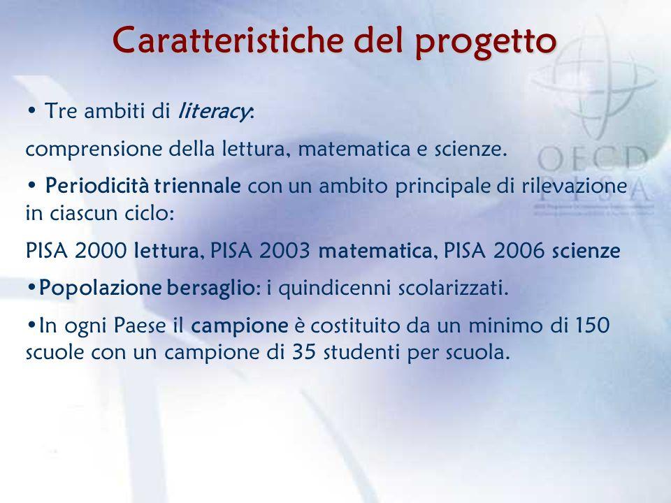 PISA 2009 – STUDIO PRINCIPALE Ambito principale di rilevazione: comprensione della lettura Popolazione bersaglio: studenti nati nel 1993 Il campione italiano: -è costituito da 1196 scuole, per un totale di 36.183 studenti, a rappresentare una popolazione di circa 573.777 studenti (censimento degli studenti e delle scuole in Valle dAosta e censimento delle scuole secondarie superiori nella prov.