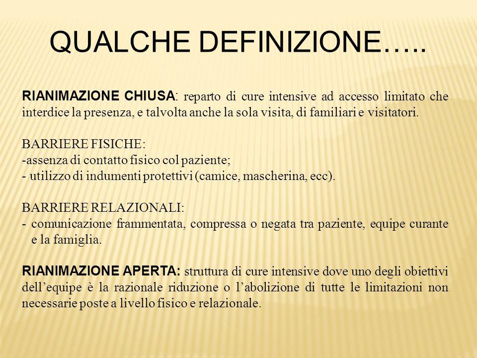 IN ITALIA CI SONO ANCORA POLITICHE RESTRITTIVE….