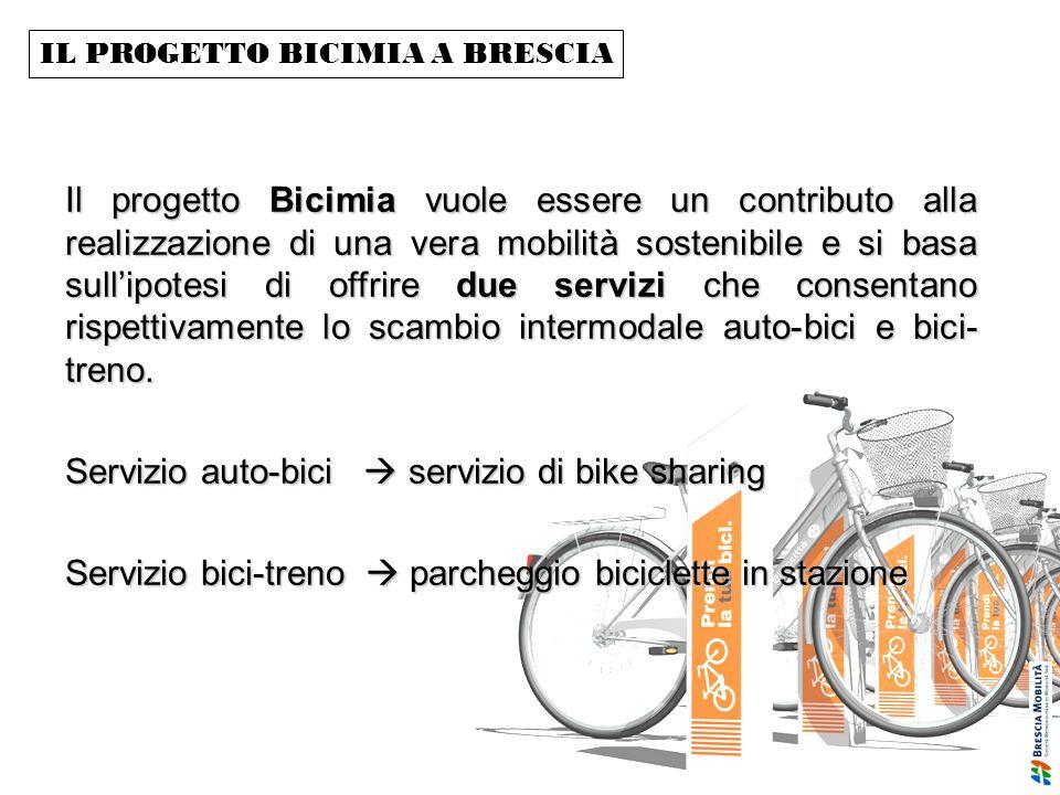IL PROGETTO BICIMIA A BRESCIA Il progetto Bicimia vuole essere un contributo alla realizzazione di una vera mobilità sostenibile e si basa sullipotesi