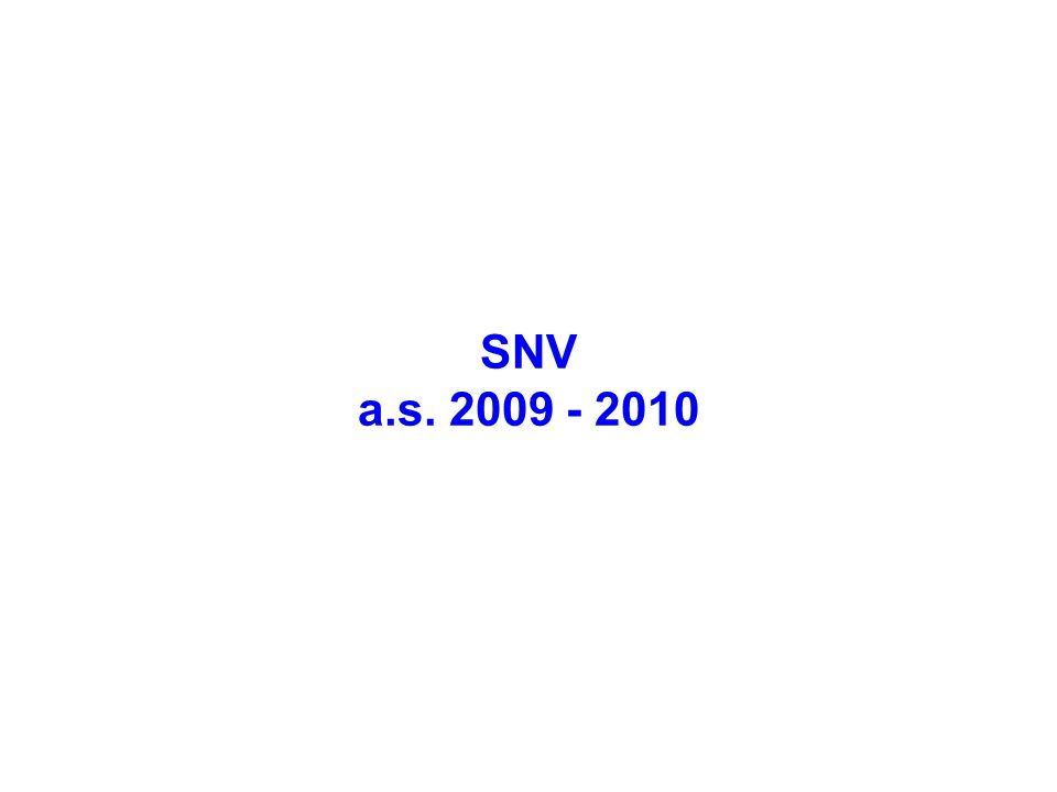 SNV a.s. 2009 - 2010