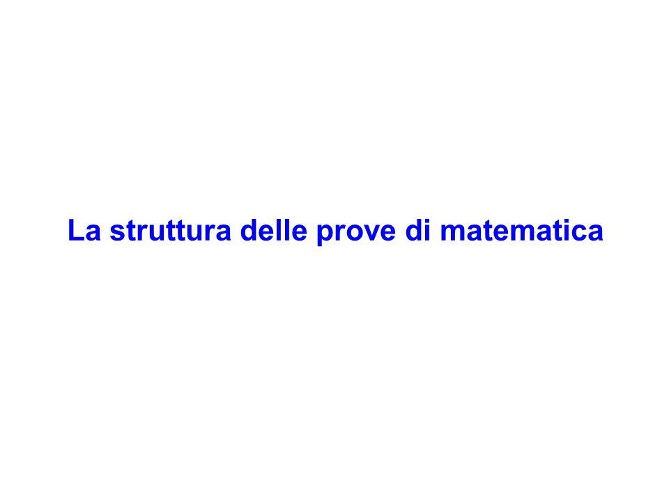 La struttura delle prove di matematica