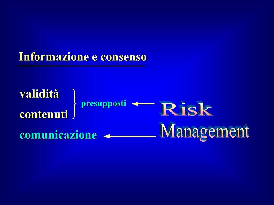 Informazione e consenso comunicazione contenuti validità presupposti