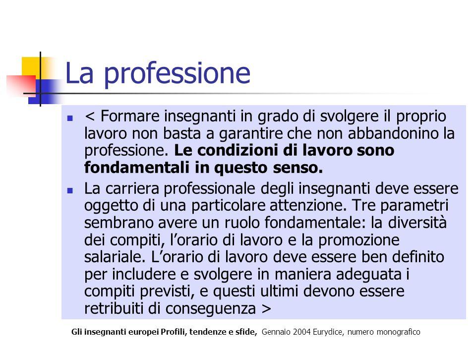 La professione < Formare insegnanti in grado di svolgere il proprio lavoro non basta a garantire che non abbandonino la professione. Le condizioni di