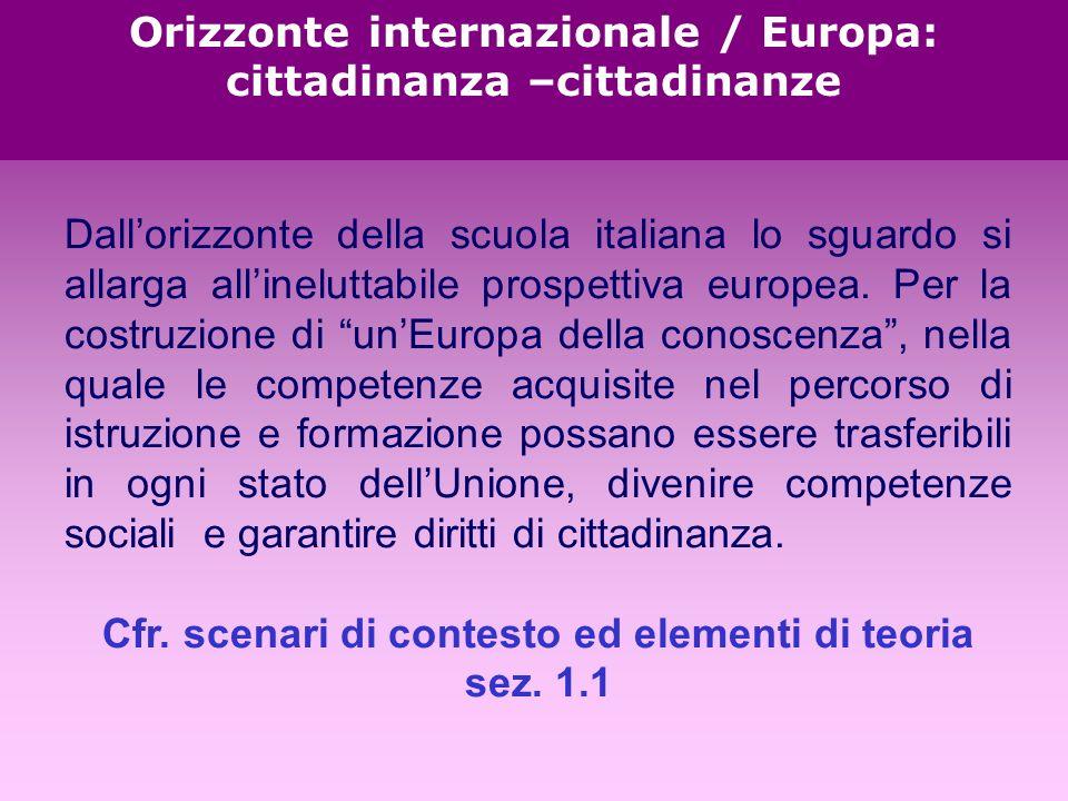 Dallorizzonte della scuola italiana lo sguardo si allarga allineluttabile prospettiva europea.