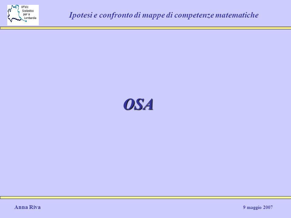 Ipotesi e confronto di mappe di competenze matematiche OSA