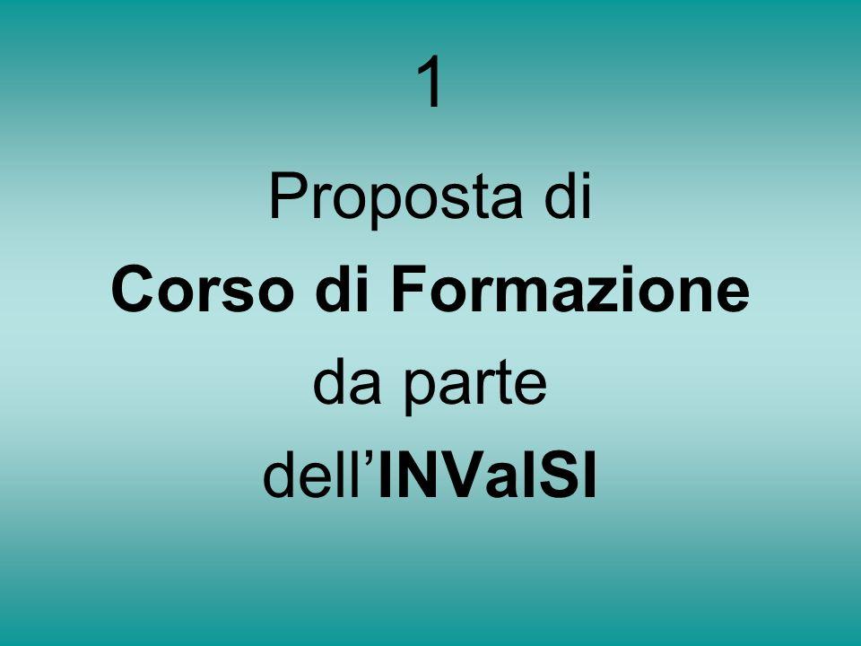 1 Proposta di Corso di Formazione da parte dellINValSI