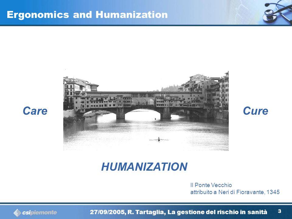 22 27/09/2005, R. Tartaglia, La gestione del rischio in sanità Quality ERGONOMICS Safety Ergonomics between Quality and Safety Santiago Calatrava Alam