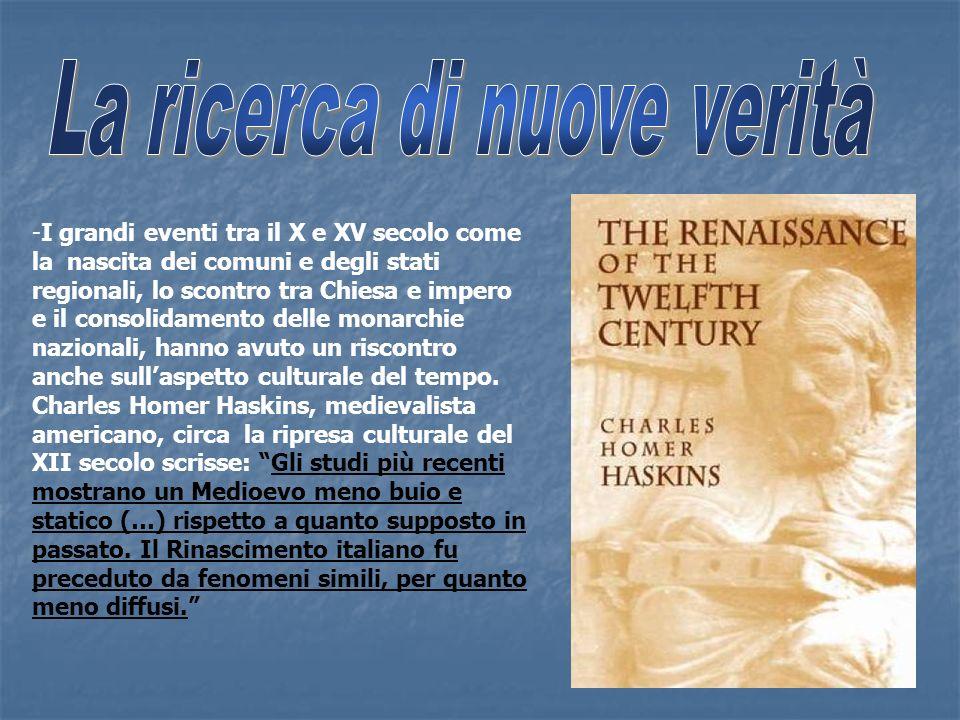 -I grandi eventi tra il X e XV secolo come la nascita dei comuni e degli stati regionali, lo scontro tra Chiesa e impero e il consolidamento delle mon