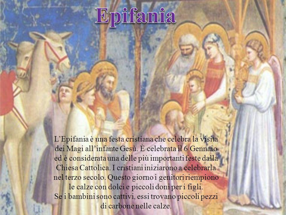 LEpifania è una festa cristiana che celebra la visita dei Magi allinfante Gesù. È celebrata il 6 Gennaio ed è considerata una delle più importanti fes
