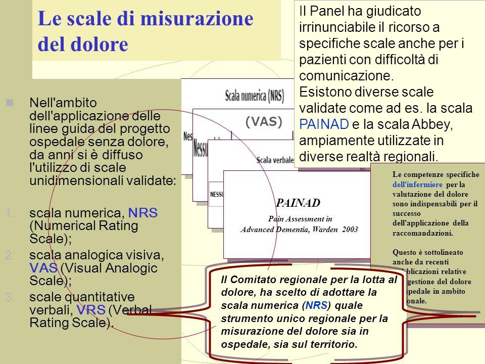 PAINAD Pain Assessment in Advanced Dementia, Warden 2003 PAINAD Pain Assessment in Advanced Dementia, Warden 2003 Nell'ambito dell'applicazione delle