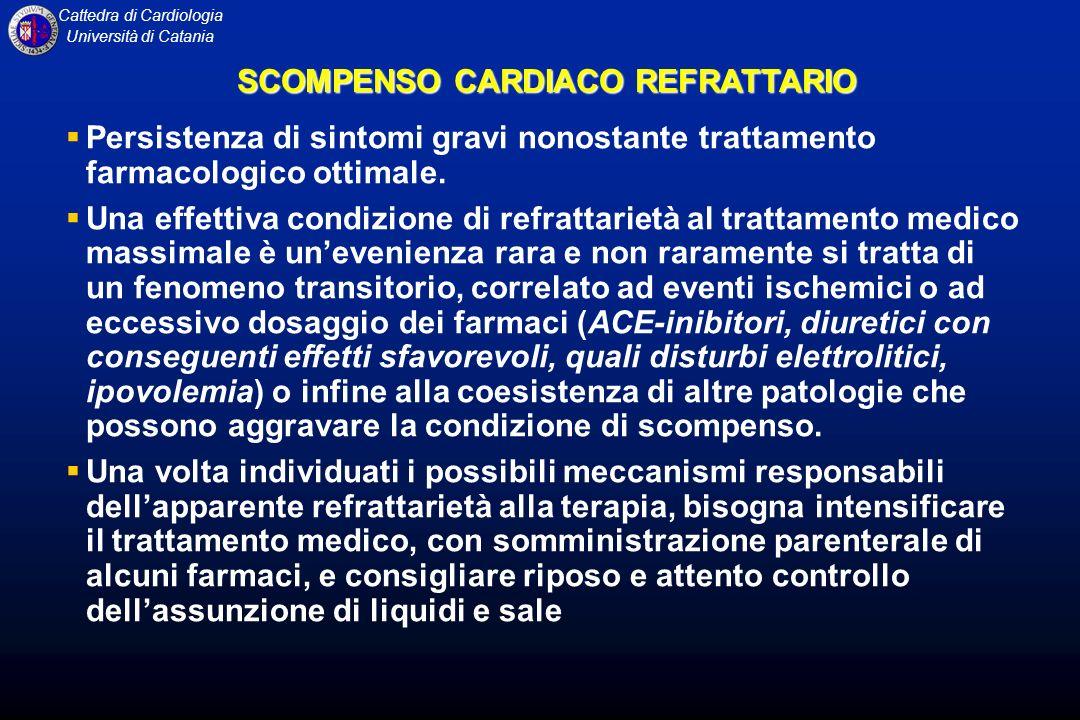 Cattedra di Cardiologia Università di Catania Persistenza di sintomi gravi nonostante trattamento farmacologico ottimale. Una effettiva condizione di