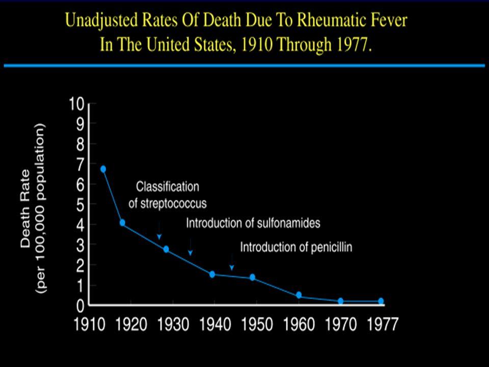 Sebbene vi sia stata una grandissima riduzione delle valvulopatie reumatiche nei paesi industrializzati negli ultimi 50 anni, non si è verificata una pari riduzione della chirurgia valvolare.