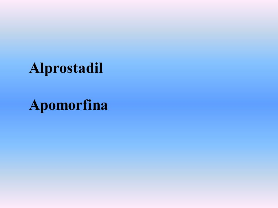 Alprostadil Apomorfina