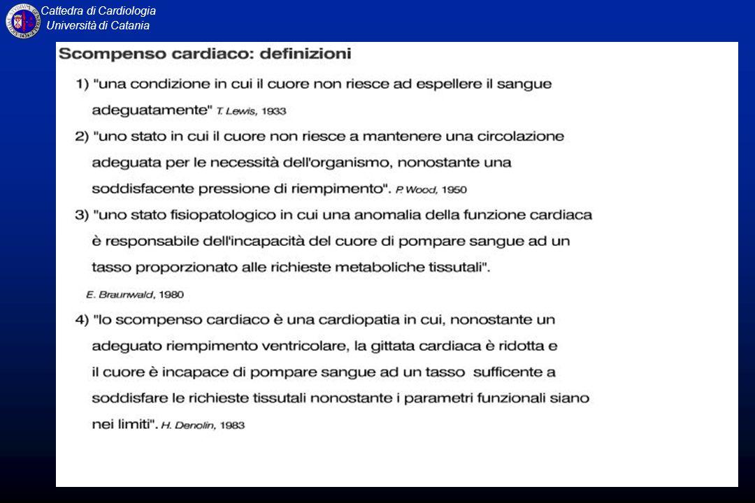 Cattedra di Cardiologia Università di Catania DISPNEA CLASSIFICAZIONE NYHA CLASSE I: nessuna limitazione dellattività fisica.