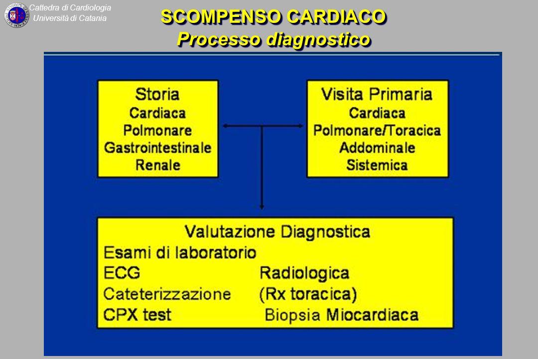 Cattedra di Cardiologia Università di Catania SCOMPENSO CARDIACO Processo diagnostico