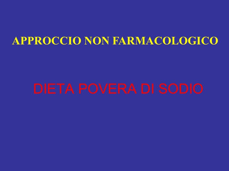 DIETA POVERA DI SODIO APPROCCIO NON FARMACOLOGICO