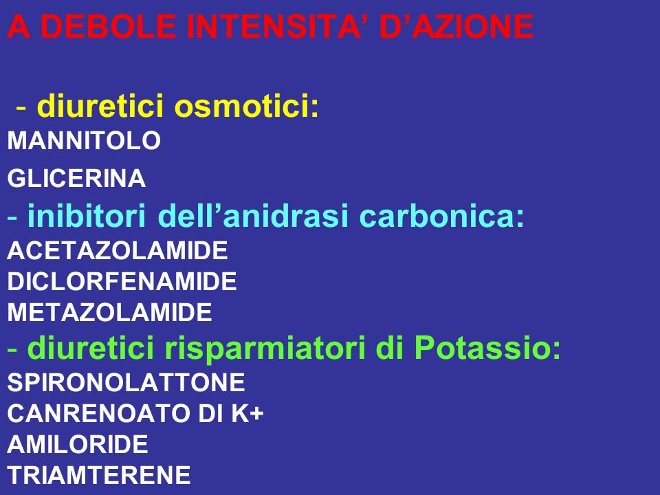DIURETICI TIAZIDICI E TIAZIDE-LIKE CLOROTIAZIDE TRICLORMETIAZIDE INDAPAMIDE CLORTALIDONE Dal punto di vista chimico sono delle SULFONAMIDI