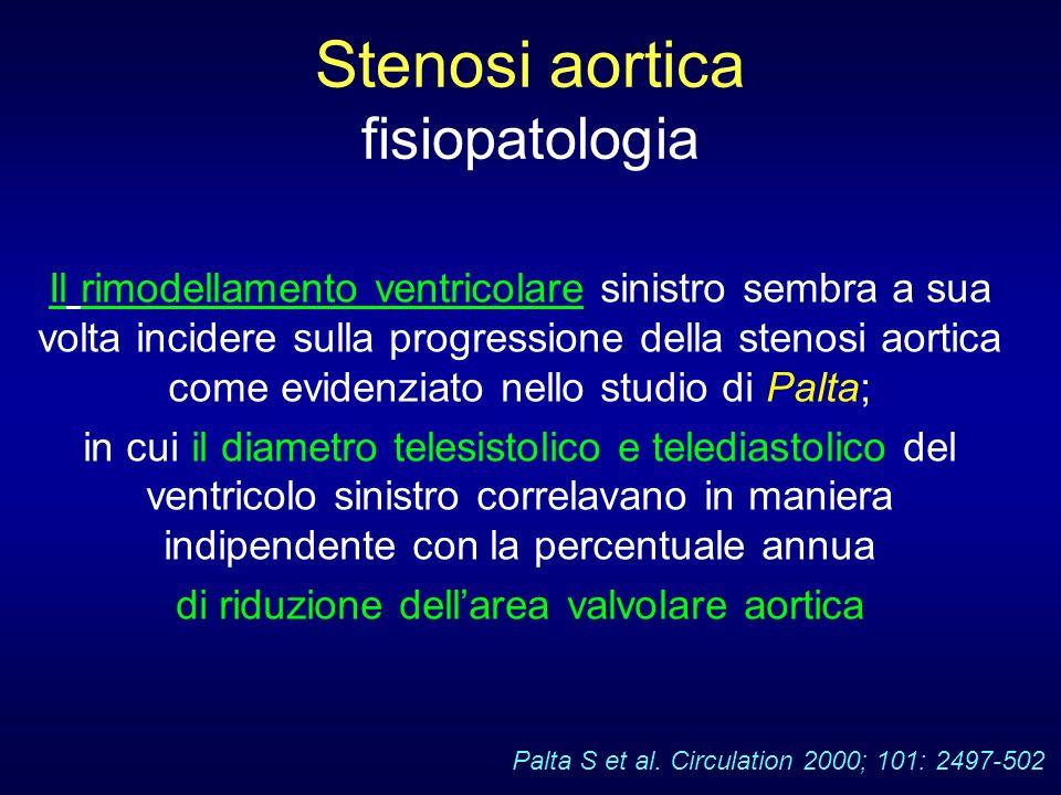 Stenosi aortica fisiopatologia Il rimodellamento ventricolare sinistro sembra a sua volta incidere sulla progressione della stenosi aortica come evide
