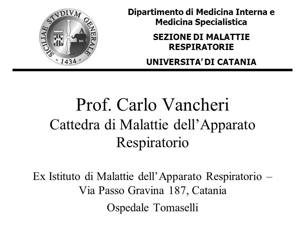 Prof. Carlo Vancheri Cattedra di Malattie dellApparato Respiratorio Ex Istituto di Malattie dellApparato Respiratorio – Via Passo Gravina 187, Catania